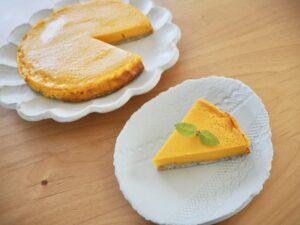 かぼちゃチーズケーキ風ヨーグルトケーキ