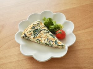 ひじきと小松菜の鉄分オムレツ